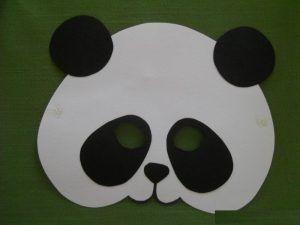 Panda Mask Craft Idea