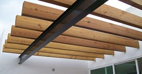 Columna techo viga de madera buscar con google techos - Vigas madera techo ...