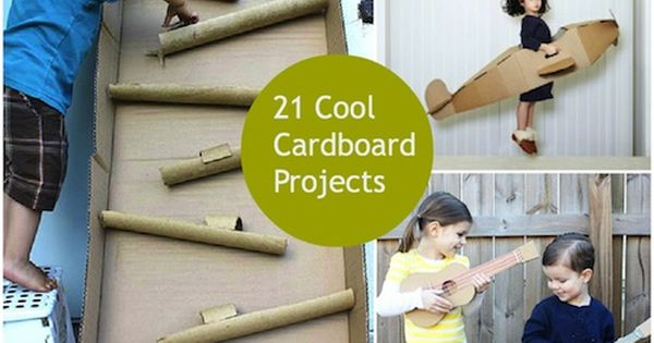 cardboard projects for kids...link doesn't go directly to project ideas; using pic