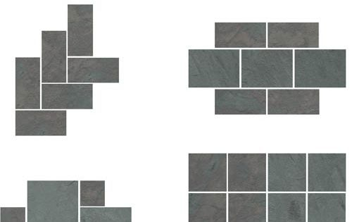 Slate floor patterns-could use w bricks and concrete for patio