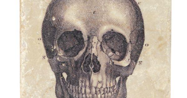Skull Marble Coaster