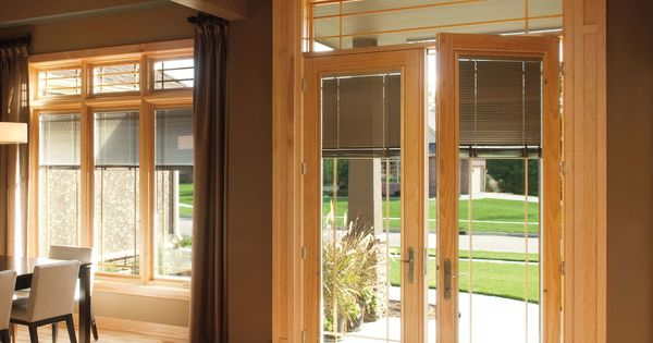 Pella Sliding Doors >> Pella Designer Series hinged patio doors offer innovative between-the-glass blinds, shades ...