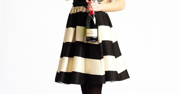 kate spade new york 'carolyn' stripe fit flare dress