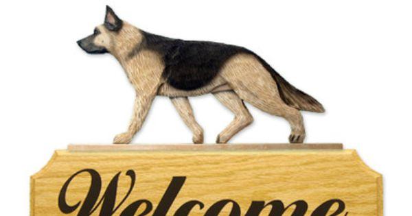 Black And Tan German Shepherd Dog Welcome Sign Plaque Australian
