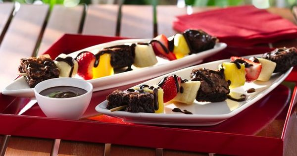 Brownie 'N Fruit Kabobs Recipe