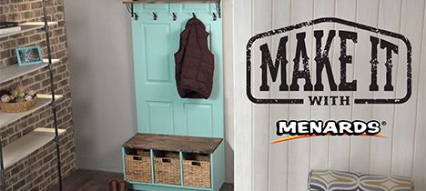 Make It With Menards Door Hall Tree Door Hall Trees Old Door Projects Hall Tree