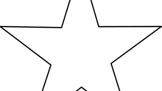 stern vorlage zum ausschneiden a4 01   stern vorlage