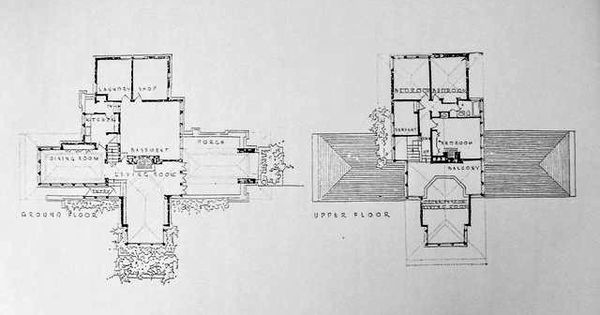 Isabel Roberts House 1908 603 Edgewood Place River Forest One Of The Most Advanced Examples Of Wright Vintage House Plans Floor Plans Prairie Style Houses