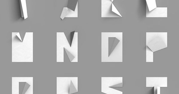 folded paper letters