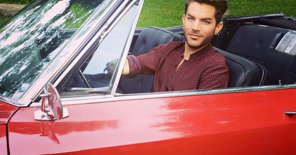 red hot guy in a red hot car ardent for adam lambert. Black Bedroom Furniture Sets. Home Design Ideas