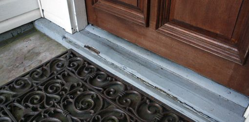How To Replace A Rotten Entry Door Sill Today S Homeowner Brick Molding Entry Doors Diy Exterior Door