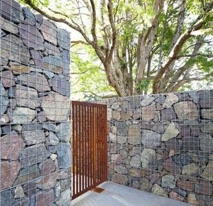 Gabion Landscaping Rocks Stone Walls Fences Faqs Backyard Fences Fence Design Gabion Stone
