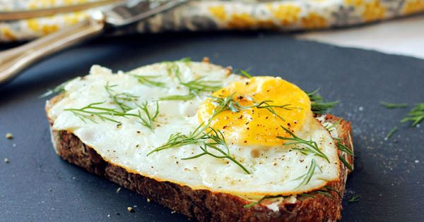 Open-Faced Egg & Goat Cheese Sandwich. **Repinning from my Egg-Cellent Board to