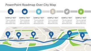 Roadmap Concept Map Powerpoint Theme Powerpoint Themes 90