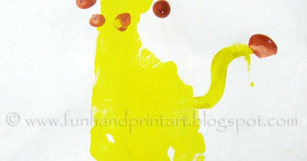 footprint lion preschool craft