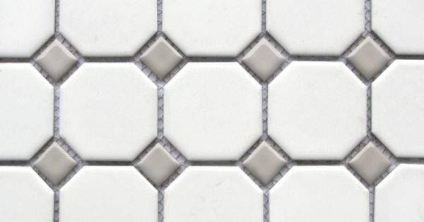 Octagon And Gray Dot Tile Bathrooms Pinterest Loft
