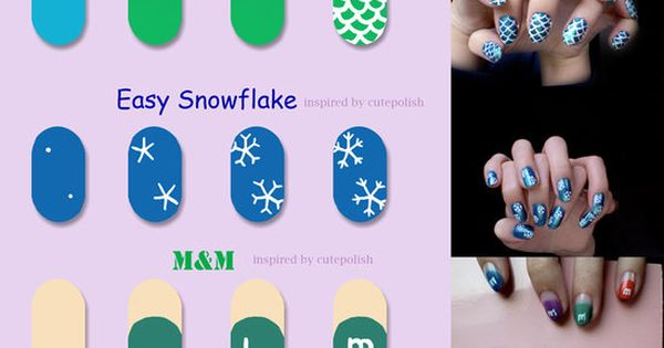 2013 Christmas Tree Nails Design Tutorial, Cute Green Christmas Tree Nails for