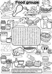 Color Page From The Grains Food Group Coloring Sheets Group Meals