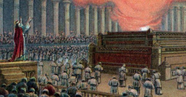 Solomon dedicates the Temple on