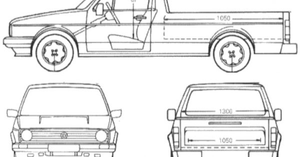 car blueprints    1990 volkswagen caddy pick