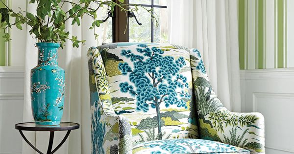 Shelton Wing Chair From Thibaut Fine Furniture In Daintree