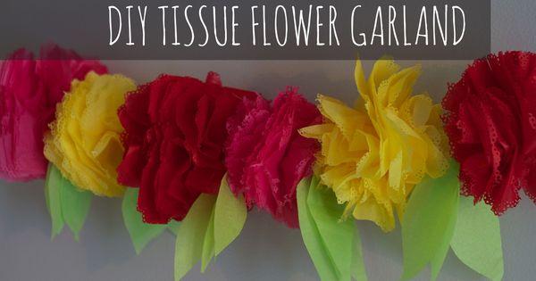 tissue paper flower garland diy