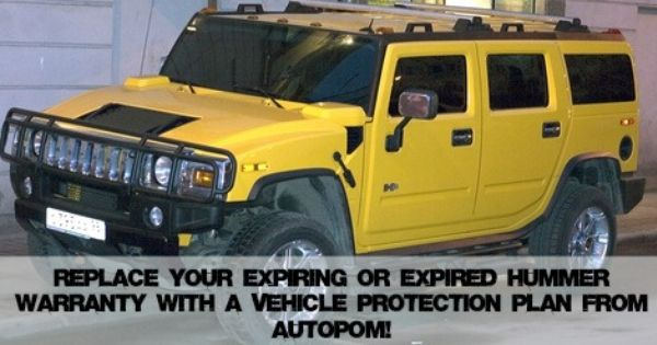Extended Hummer Warranty Or Vehicle Protection Plan With Images
