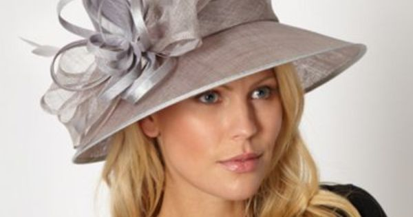 Silver Feather Bow Hat Mother Of The Bride Hats And