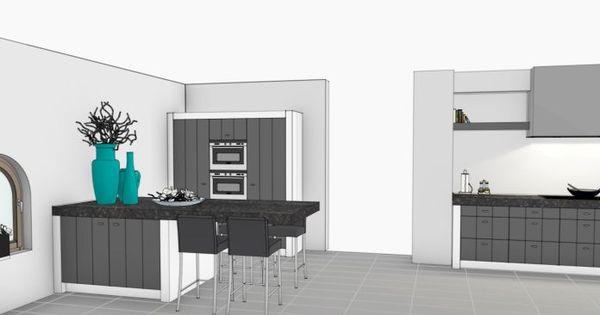 Landelijk moderne keuken ontwerp vri interieurstyling kleuren grijze fronten witte - Deco keuken ontwerp ...