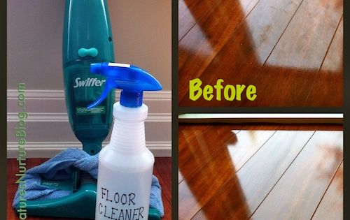 *** All-Natural Homemade Floor Cleaner -- 1 c water* 1 c vinegar*