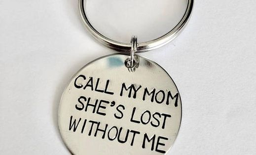 Call My Mom She S Lost Without Me Handstamped Customized Pet Dog Cat Stainless Steel Gold Collar Tags Id Wish Call My Mom Hand Stamped Gold Collar