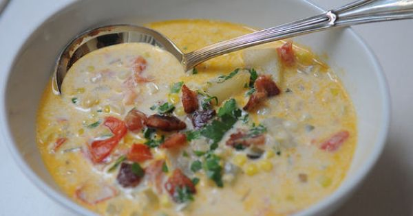 Summer Corn Chowder | By Nancy Jo | I started making this