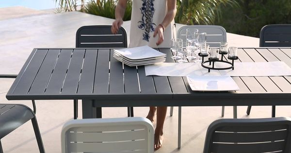 mobilier de jardin en aluminium gamme hyba alu 152 ambiances jardin terrasse balcons. Black Bedroom Furniture Sets. Home Design Ideas