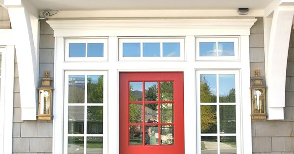 trim + windows + poppy dutch door // beach house