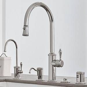 My Next Kitchen Faucet I Like The Coordinated Looks I Am Usually A Mix And Match Type Of Person But In The Kitchen Where T Kitchen Faucets Pull Down Polished Nickel