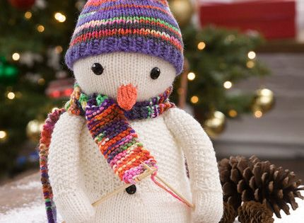 Free Christmas Knitting Patterns Snowman : Knitting snowman free pattern from red heart