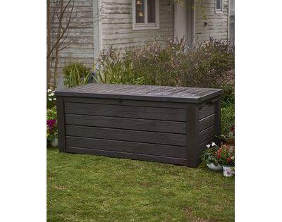Keter Westwood 150 Gallon Resin Deck Box Deck Box Patio Storage