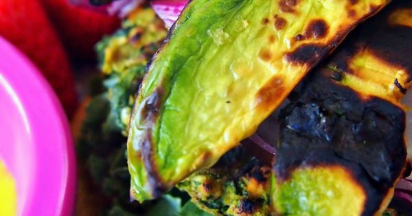 Undressed Skeleton — Veggie Burgers With Grilled Avocados. Wonderful homemade veggie burger