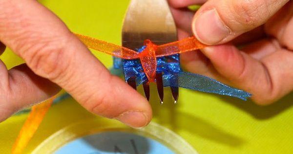 DIY Fork Bow diy craft crafts easy crafts diy ideas diy crafts
