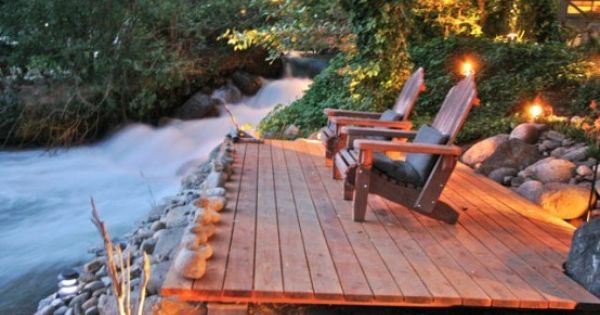 I could handle a river and deck in my back yard....