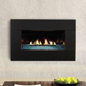 Loft Series Black Metal Vent Free Wall Fireplace Vfl20in Df20mbl