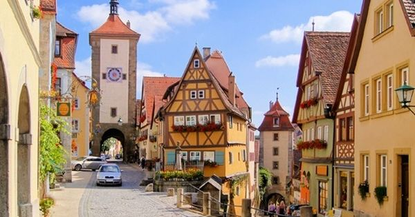 Bavaria : Rothenburg ob der Tauber on the Romantic Road is a