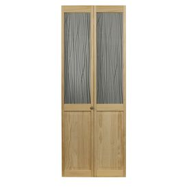 Pinecroft Grass Solid Core Patterned Glass Pine Bi Fold Closet Interior Door With Hardware Common 36 In In 2020 Bifold Doors Bifold Door Hardware Wood Doors Interior