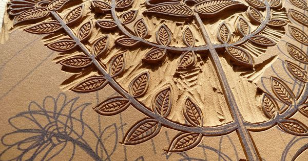 Carve linoleum blocks relief printing pinterest