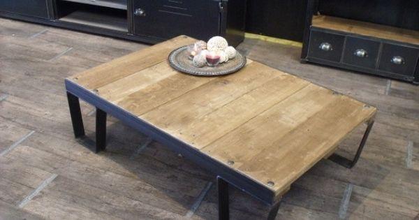 Table Basse Palette Style Sncf En Bois M Tal M Taux Et