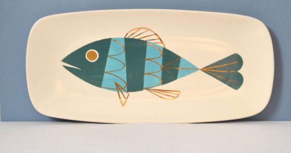 Vintage metlox tropicana originals tropical fish serving for Fish serving platter