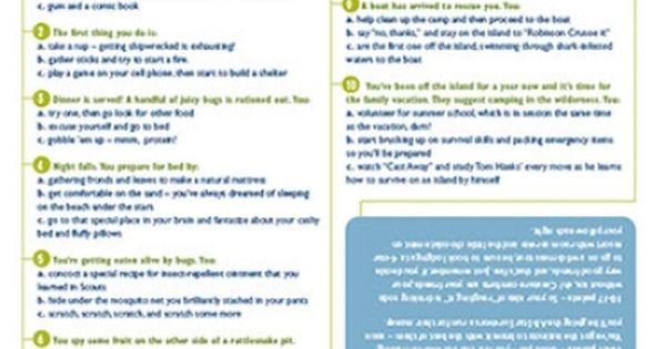 Slumber Party Activity: Survival Skills Quiz | BIRTHDAY ...