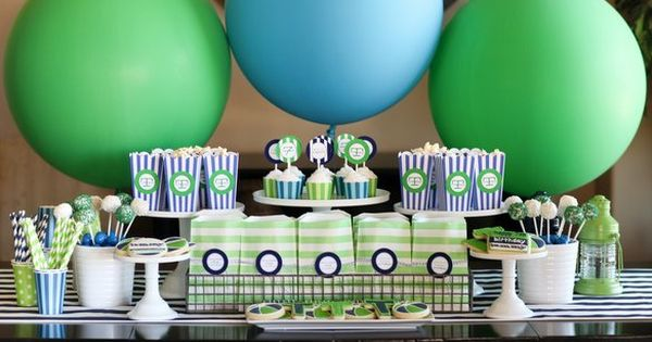 pool party dessert table by TomKat Studio