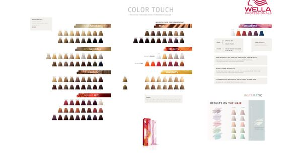 wella professionals color touch color chart goldwell color charts pinterest colors honey and color charts - Color Touch Nuancier