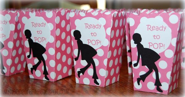 Baby Shower Favor Boxes Pinterest : Cricut projects baby favors popcorn box for shower